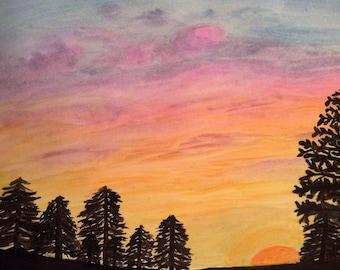 Sky Watercolors