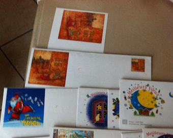lot 10 envelopes ready to ship priority mail greeting and Christmas
