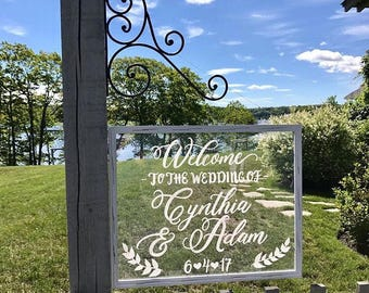 Clear Acrylic Wedding Sign • Welcome to the Wedding of Acrylic Sign • Acrylic Wedding Sign • Acrylic Sign
