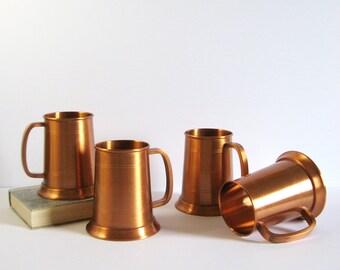 Vintage Copper Beer Mug - Beer Tankard - Copper Beer Stein - Copper Home Decor - Copper Barware - Fantasy Copperware - Fathers Day Gift