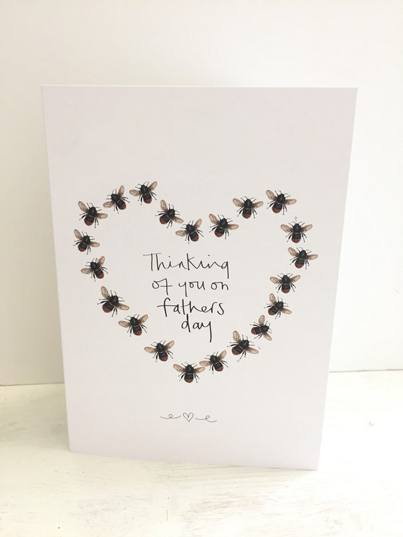 Thinking of you on fathers dad manchester bee inpired greeting card
