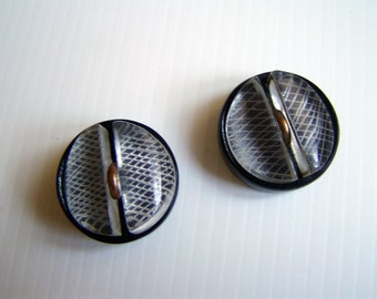 Vintage Buttons pair Italian style 50s / 60