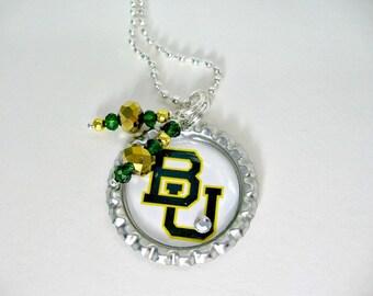 Baylor University, Baylor University Jewelry, Baylor University Necklace, BU Jewelry, BU Necklace, BU Bears, College Girl Gift, Baylor Bears