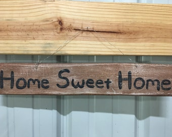 Home Sweet Home hand painted wooden sign