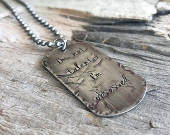 Men's Distressed Stainless Steel Dog Tag Necklace, Gift for Him, Rugged Jewelry, Personalized Gift, Dog Tag Jewelry, Father's Day