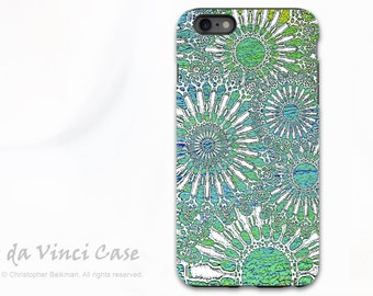 Turquoise iPhone 6 Plus / 6s Plus Case - Abstract Art Case for iPhone 6Plus - Ocean Lace - Sea Urchin Inspired iPhone 6s Plus Tough Case