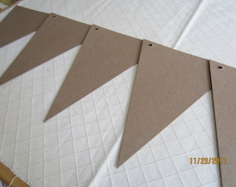 DIY Banner Kit -Chipboard Banner Blanks -  Banner Shapes for Decorating-Unfinished Banners for Parties