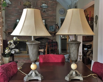 Dale tiffany inc antiques roadshow lamp pair dale tiffany lamp marble wshade c1979 retro aloadofball Image collections