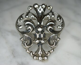 Danecraft Sterling Silver Baroque Style Pin