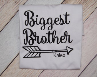 Personalized Biggest Brother Shirt - I'm the Big Brother - Older Brother Shirt - Sibling Shirts - Boys Shirts - Pregnancy Announcement Shirt
