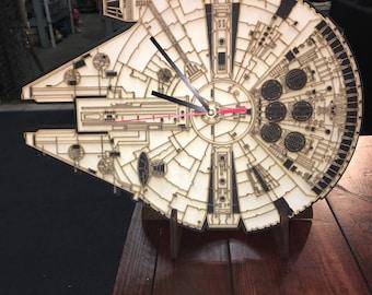 Millenium Falcon Clock 14x12 inches. Hangable.