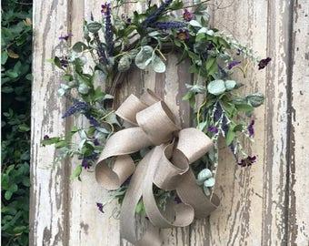 Front door wreath,wildflower wreath,fixer upper wreath,farmhouse wreath,Year round wreath,Summer Wreath,Front Door Wreath,double door wreath
