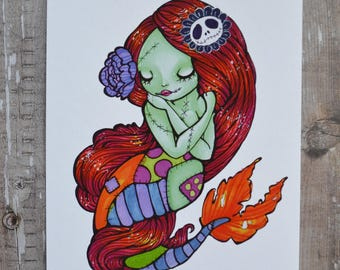 Sally-Maid 4x6 or 5x7 Inch Art Print