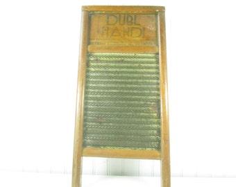 Vintage Washboard, Wood and Metal Washboard, Dubl Handi Washboard, Farmhouse Decor, rustic modern, wall decor, laundry room, wall hanging,