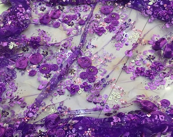 New arrival 3D lace fabric guipure french lace 7 color available floral embroidery lace fabric for wedding dress