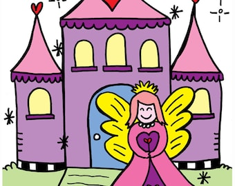 PDF Little Girls Coloring Book Fun - Girls, Castles, Girly, Pink, Coloring Pages - Digital Book