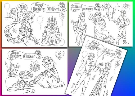 Rapunzel-Geburtstags-Party Färbung Seiten Aktivität