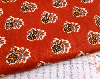 Vintage Floral Fabric-Rust-Home Dec Fabric