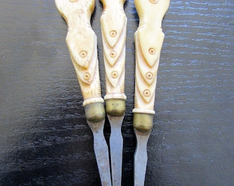 Carved Bone Appetizer Picks Holiday Hors d'oeuvre Party Appetizers
