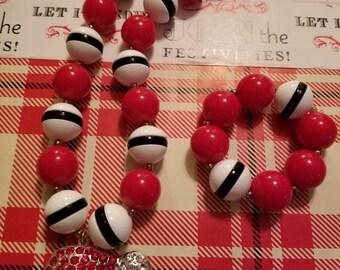 Santa Hat necklace set