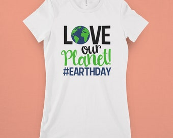 Love Our Planet Svg, Earth Day SVG, DXF, EPS, png Files for Cutting Machines Cameo or Cricut - Recycle Svg, Earth Svg, Planet Svg