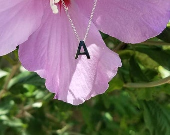 14k Gold Letter Necklace. Personalized  Initial necklace