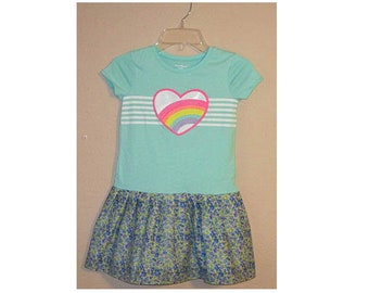 Rainbow Heart T-Shirt Dress