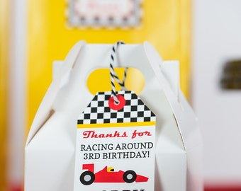Race Car Favor Tag - Printable Racing Party Favor Tags by Printable Studio