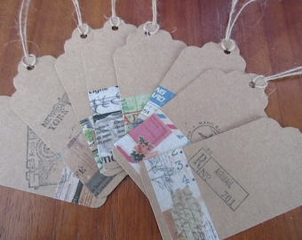 TRAVEL COLLECTION: 56 labels 9.5 x 4.5 cm decorated on the theme of travel