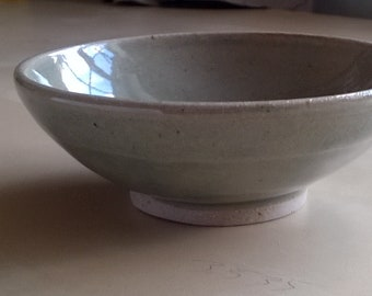 Stoneware bowl with green celadon glaze 12cm diameter