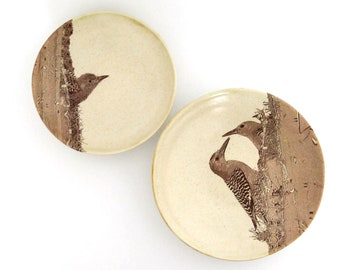 Nesting Bowls - 2 piece set - Gila Woodpeckers - Ceramic Bowls - Mothers Day Gift -Wheel Thrown Pottery - Stoneware