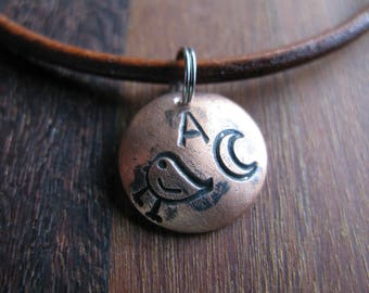 Initial Necklace the Letter A