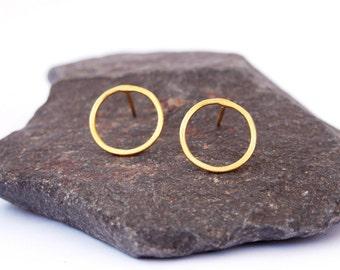 Circle Earrings, Small circle earrings, Open circle earrings, Stud earrings