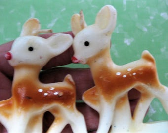 Reserved for Dona - Vintage Gurley Deer Candles, Set of Two, Because Two is Better than One