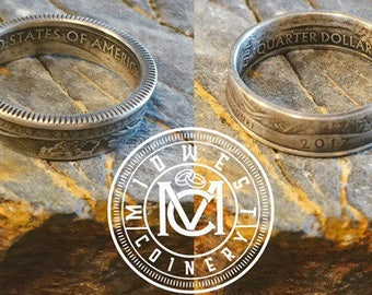 2017 Silver Quarter National Parks Coin Rings
