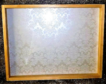 25 x 19 Large Handmade Wooden Shadowbox Frame With Glass Front - Ready to Paint and Fill - Memories - Gift -