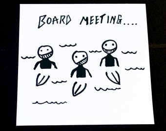 Surf Inspired Greetings Card