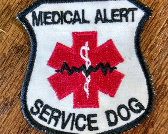 Medical Alert - Service Dog Embroidered Patch (FREE SHIPPING)