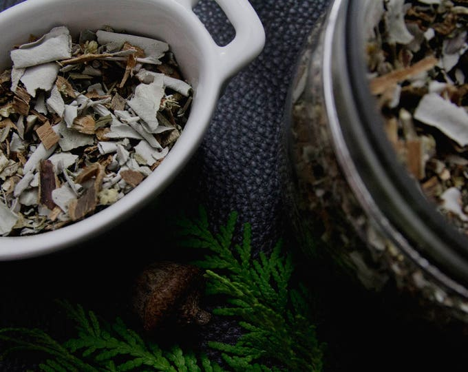 Featured listing image: WHITE WOLF Loose Incense // White Sage, Blue Sage, Peppermint, Tansy, White Willow Bark