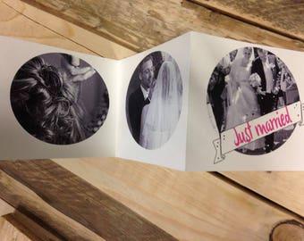 Leporello Hochzeit, Erinnerung, Just married, Love, Wedding, Faltalbum, Danke, Taschenalbum, Hochzeitsfotos, Hochzeitsalbum, Fotoalbum