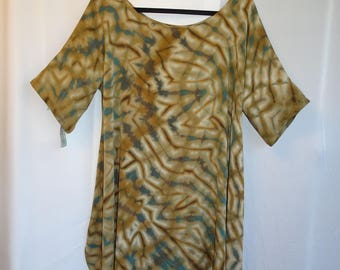 Silk Shibori Tunic