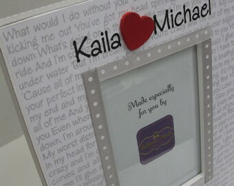 Vertical  or Horizontal Heart Wedding/Anniversary Song Frame