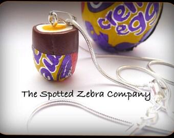 Replica Cadbury's (r) Creme Egg Pendant Necklace