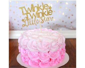 Twinkle Twinkle Cake Topper. Twinkle Twinkle Centerpiece.  Twinkle Twinkle Little Star. First Birthday. Boy or Girl. 1st Birthday