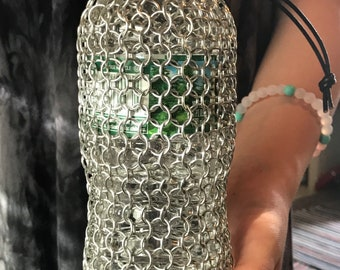 Chainmaille Water Bottle Carrier