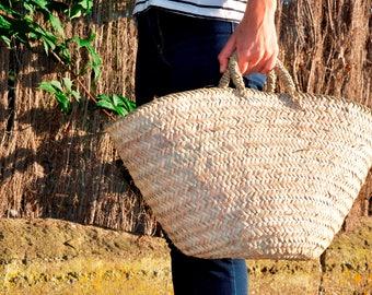 Basket straw bag, French Market bag, Argel Straw bag, palm tree leaves bag, straw bag, beach bag, straw market basket