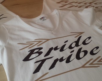 T-shirt in white cotton for the flange Tribe flocked brownie, vanilla and chocolate!