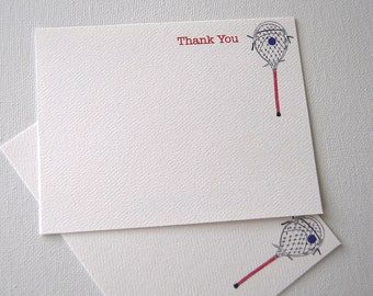 Goalie Stick, Lacrosse, Thank You, Note Cards, Coach, Sports Cards, Goalie, Card Set, Stationery, Illustration, Awards Dinner, Awards Gift