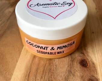 Coconut & Mimosa - Handmade Scoopable Soy Wax - Aromatic Soy
