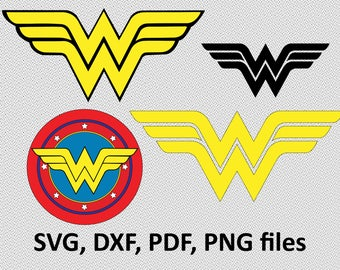 Wonder Woman ( svg, dxf, pdf, png) Clipart svg Files cutting vector wonder woman logo, silhouette, branding, image, clip art